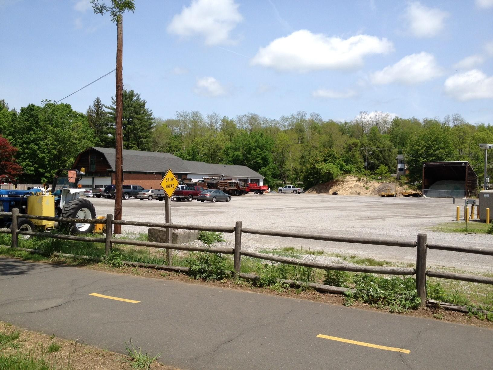 A view of the town highway garage in Canton. Town officials are working on a plan to build a new one.