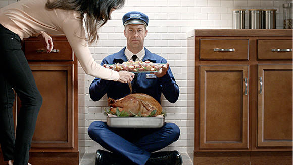 The Maytag Man serves as a double oven in a new ad campaign that reinvents the iconic character nearly 50 years after it was created.