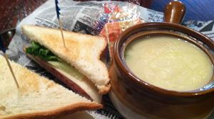 Soup and sandwich make a good combo at Olde Towne Tavern