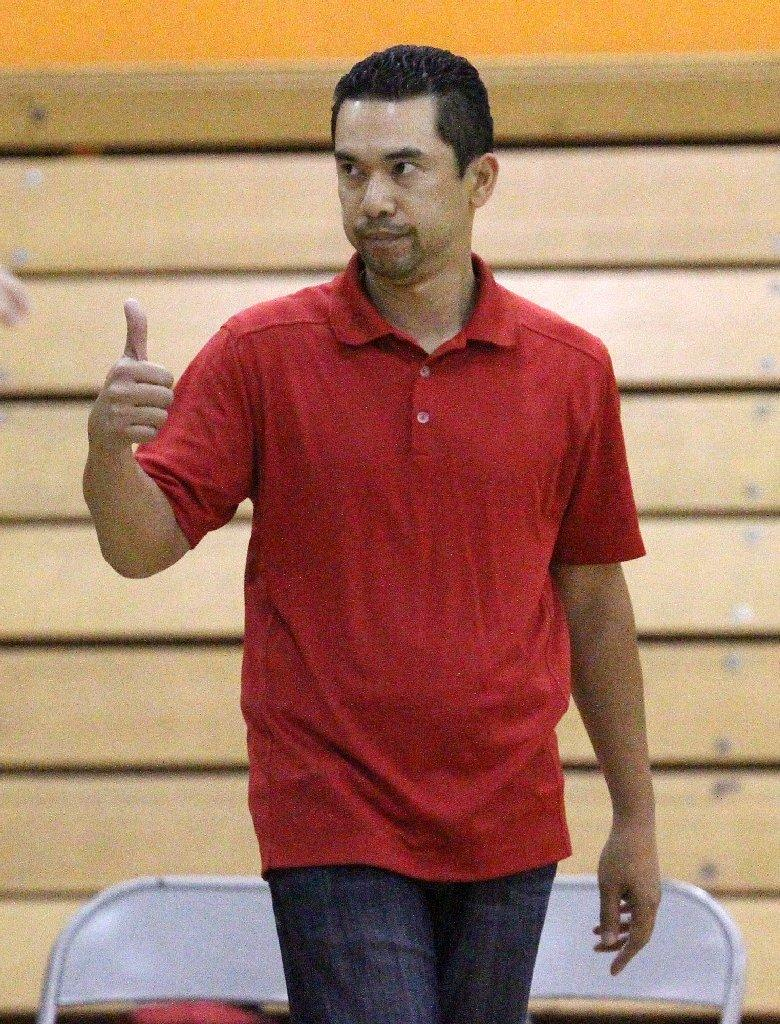 Flintridge Sacred Heart Academy's Ernest Banaag is the 2013 All-Area Girls' Volleyball Coach of the Year. (Tim Berger/File Photo)