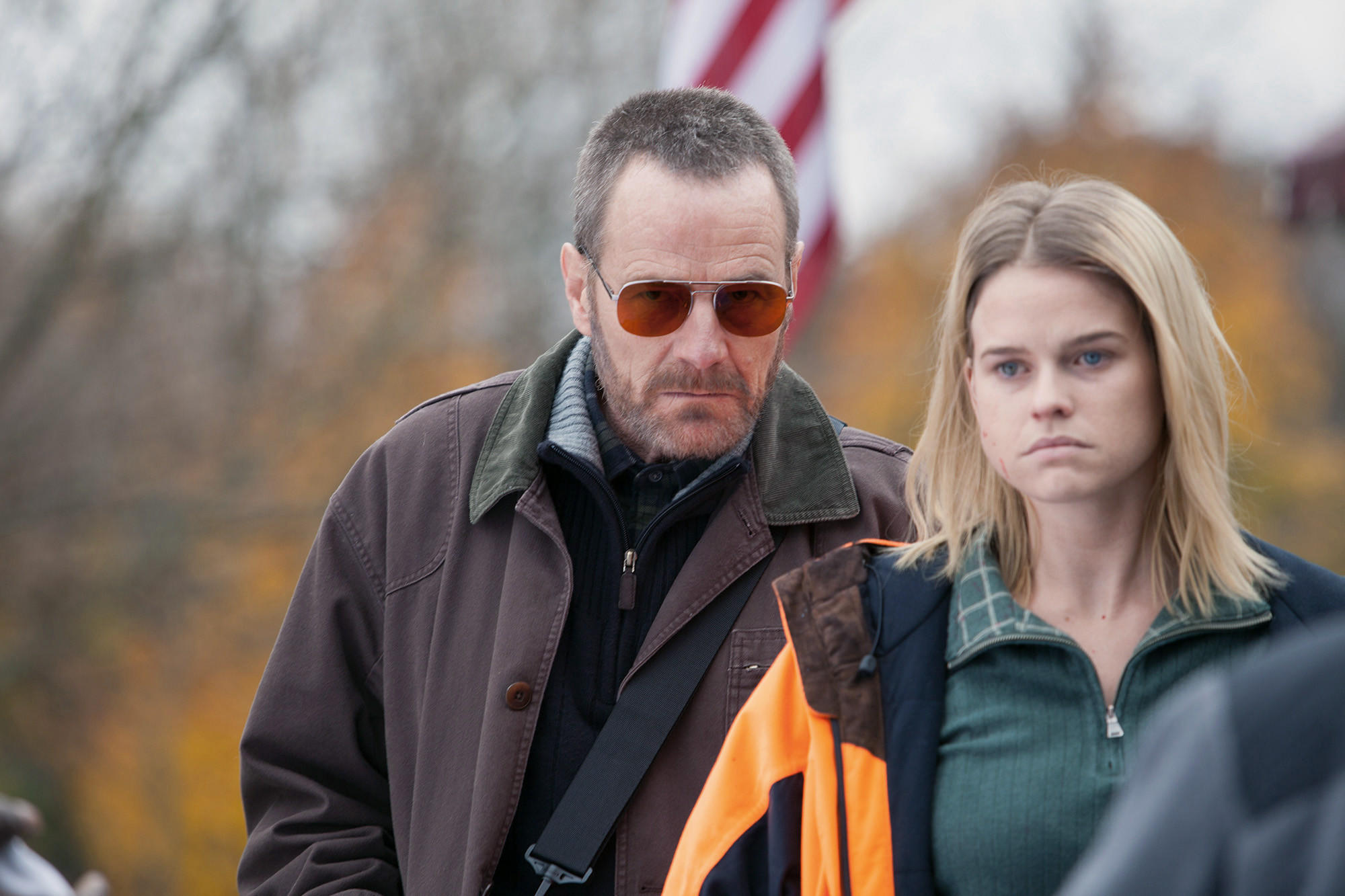 "Bryan Cranston and Alice Eve in ""Cold Comes the Night."""