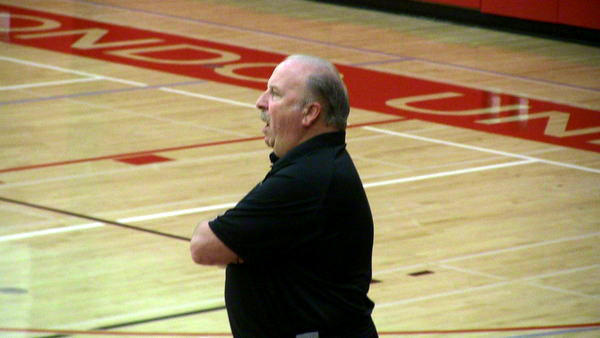 Westchester Coach Ed Azzam watches his team during a game.