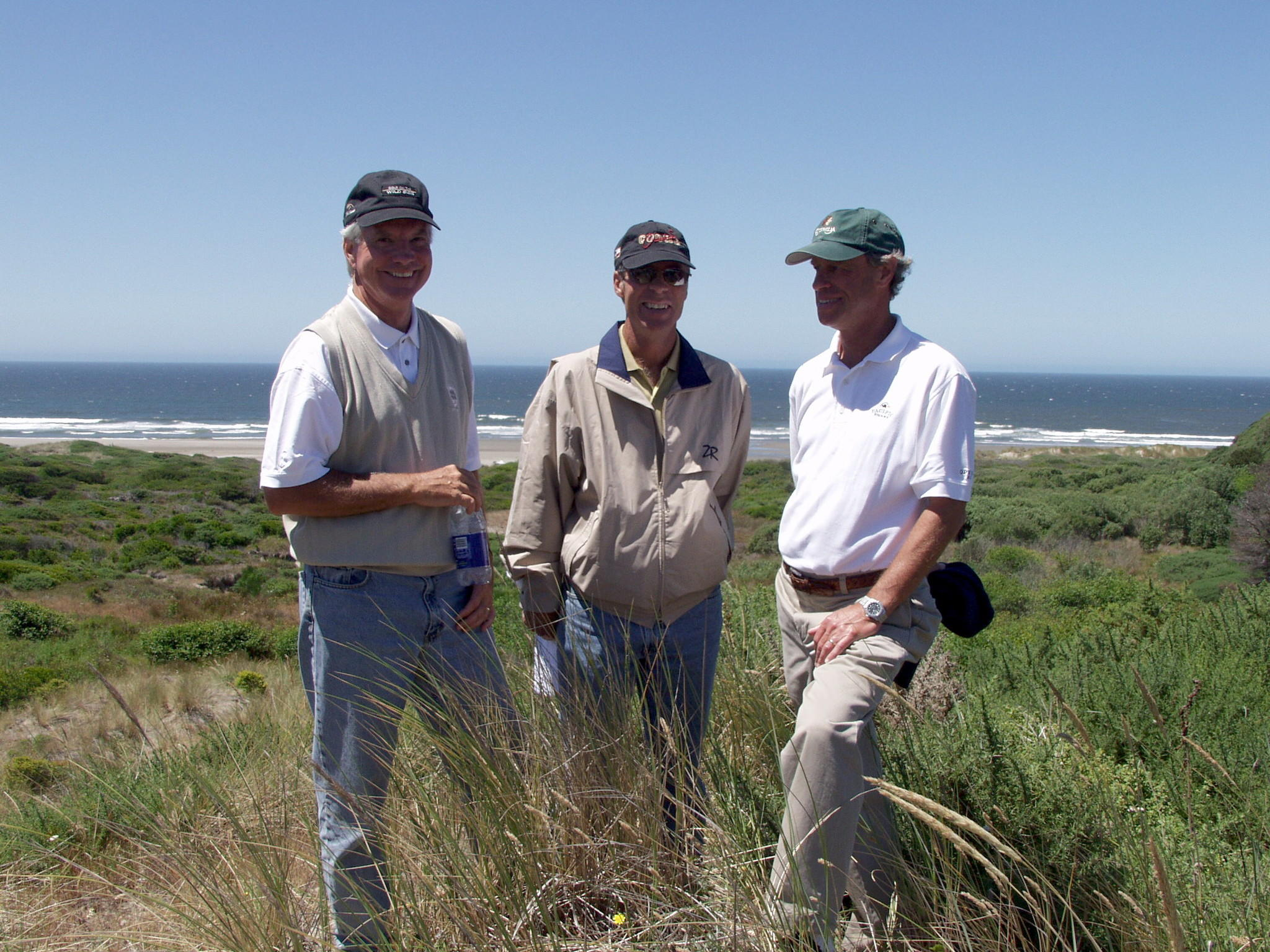 Sand Valley golf course architects Bill Coore and Ben Crenshaw, plus developer Mike Keiser.