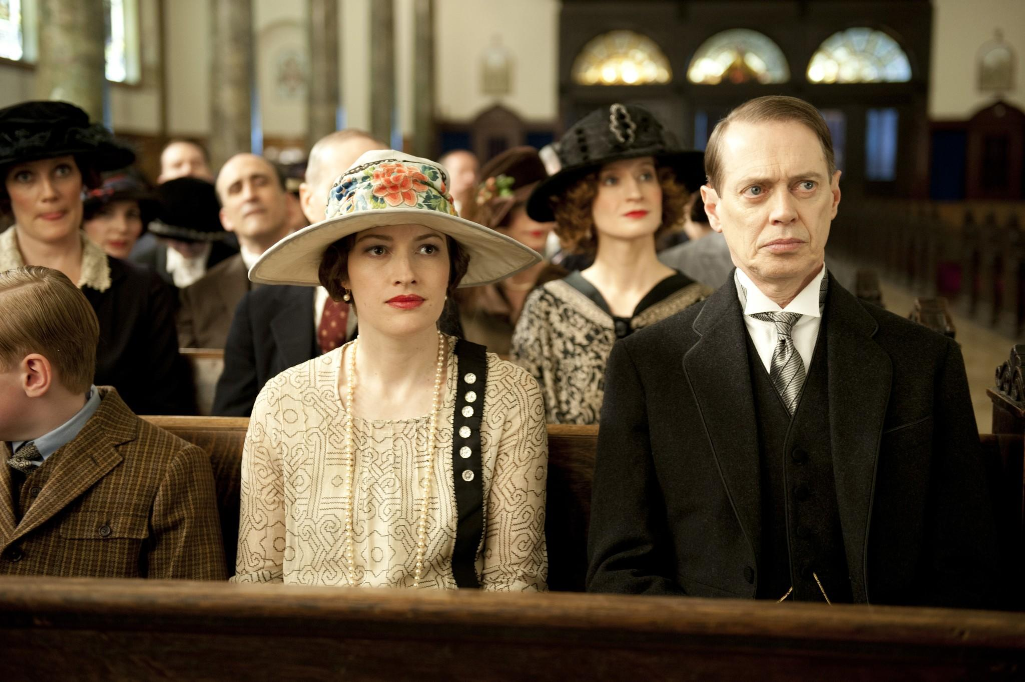 "Kelly Macdonald and Steve Buscemi in ""Boardwalk Empire."""