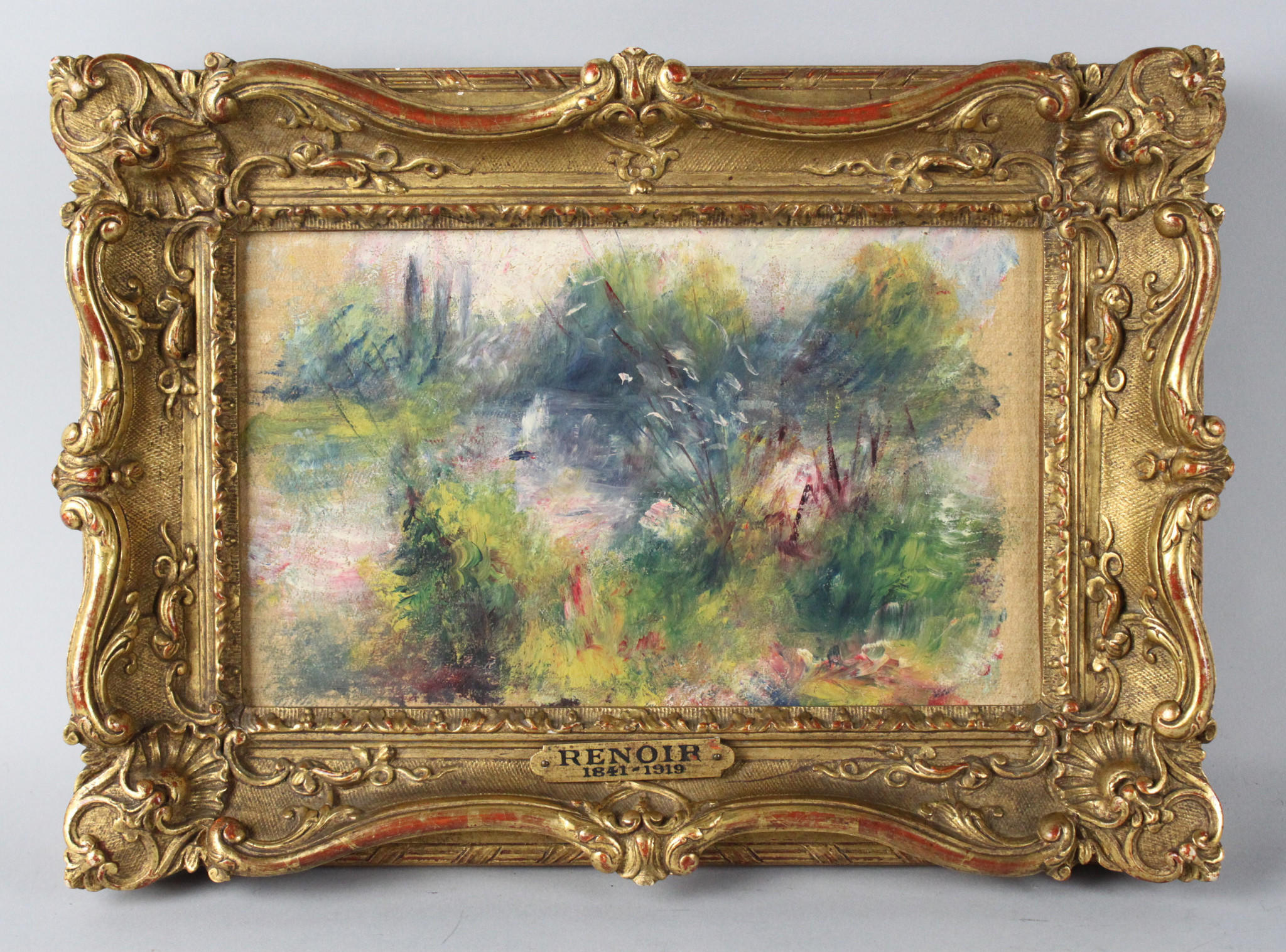 "The Renoir painting ""Paysage Bords de Seine"" is now assessed at $22,000."