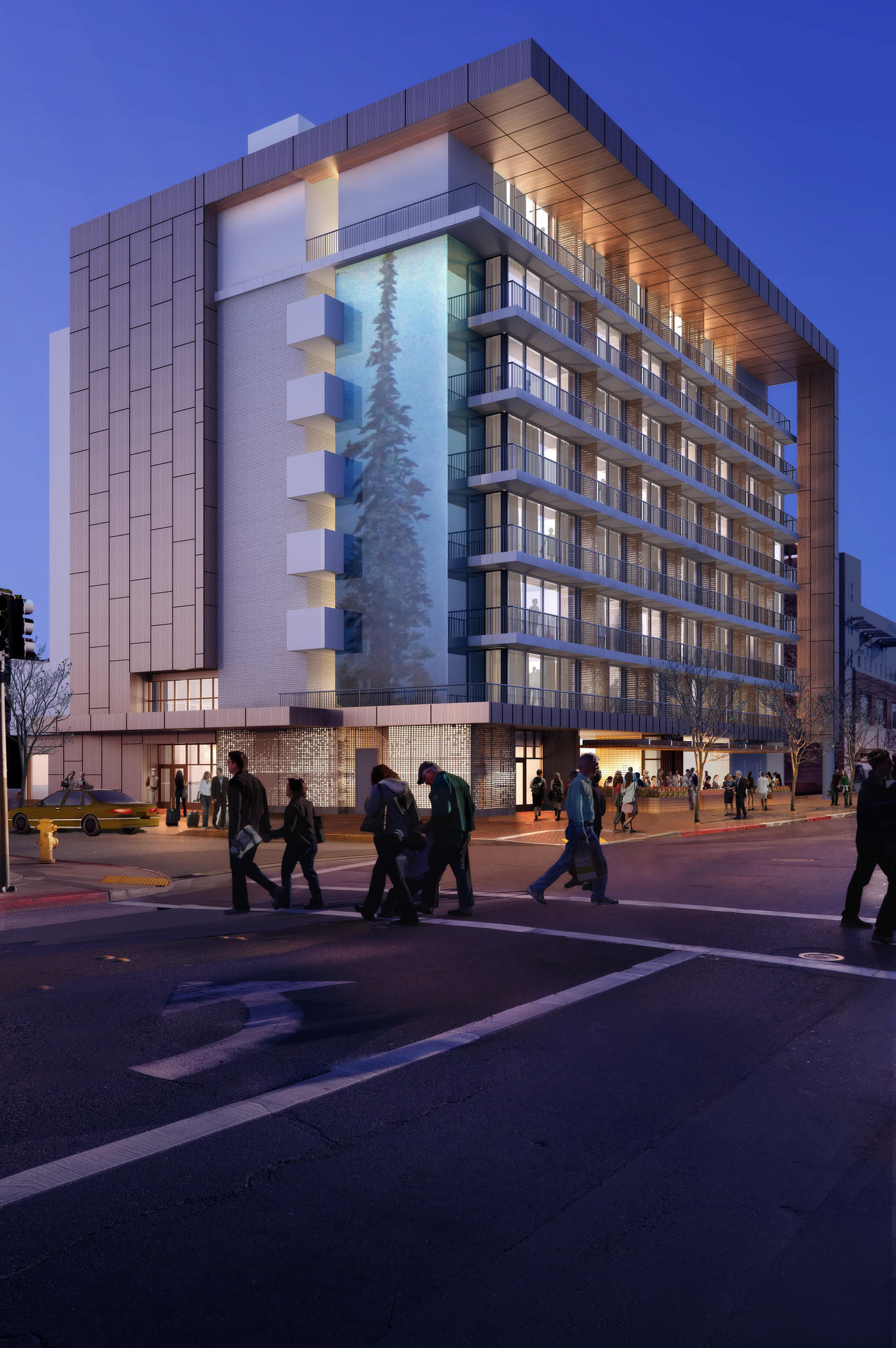 The Epiphany Hotel, shown here in an artist's rendering, is expected to open in Palo Alto in March.