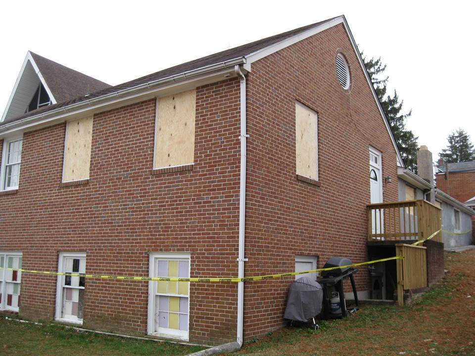Perry Hall Presbyterian Church's Fellowship Hall was damaged by burglars in late-December.