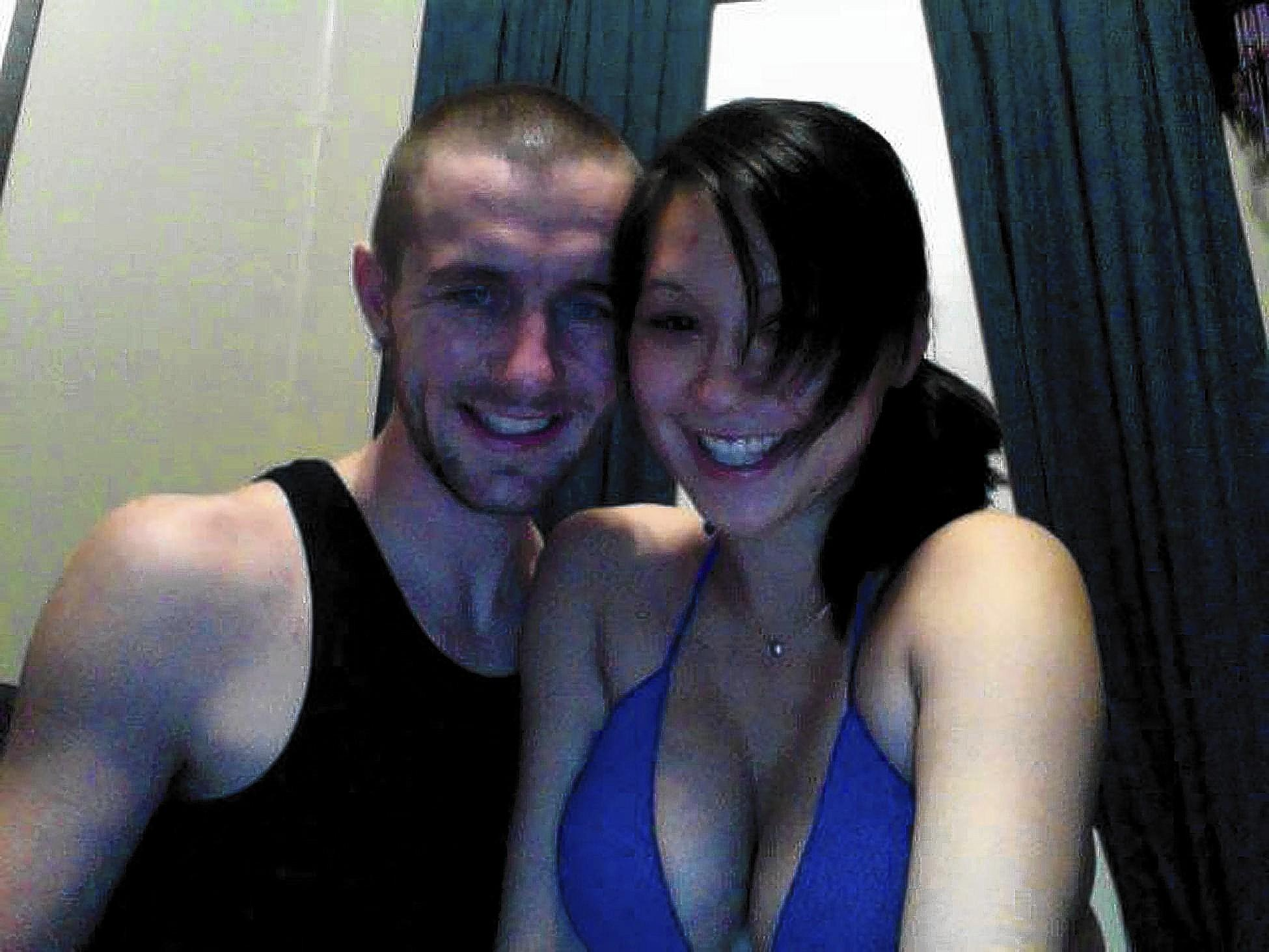Shayna Sykes (right) of Macungie, with fiancee Blake Bills, got a prison sentence last September because of a wild police chase that ended with a crash in Philadelphia.