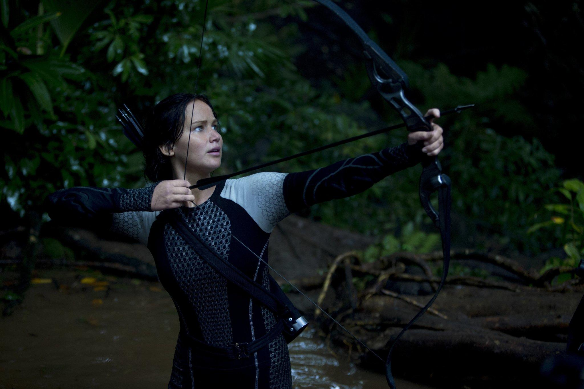 "Jennifer Lawrence in ""The Hunger Games: Catching Fire."""