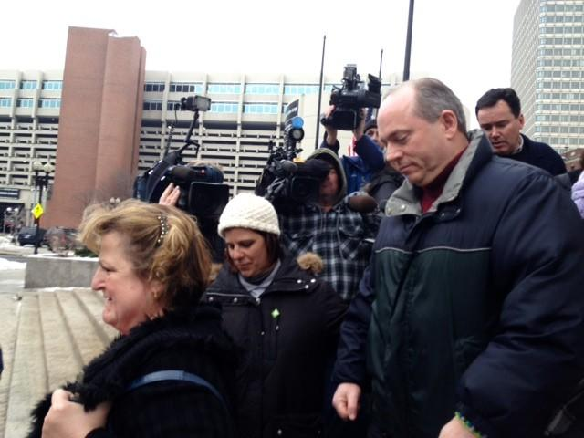 Justina Pelletier's parents, Linda and Lou, leave court Friday afternoon.