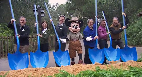 "Walt Disney Parks and Resorts Chairman Tom Staggs was on hand with ""Avatar"" producer Jon Landau and others in early January 2014 to break ground on Pan"
