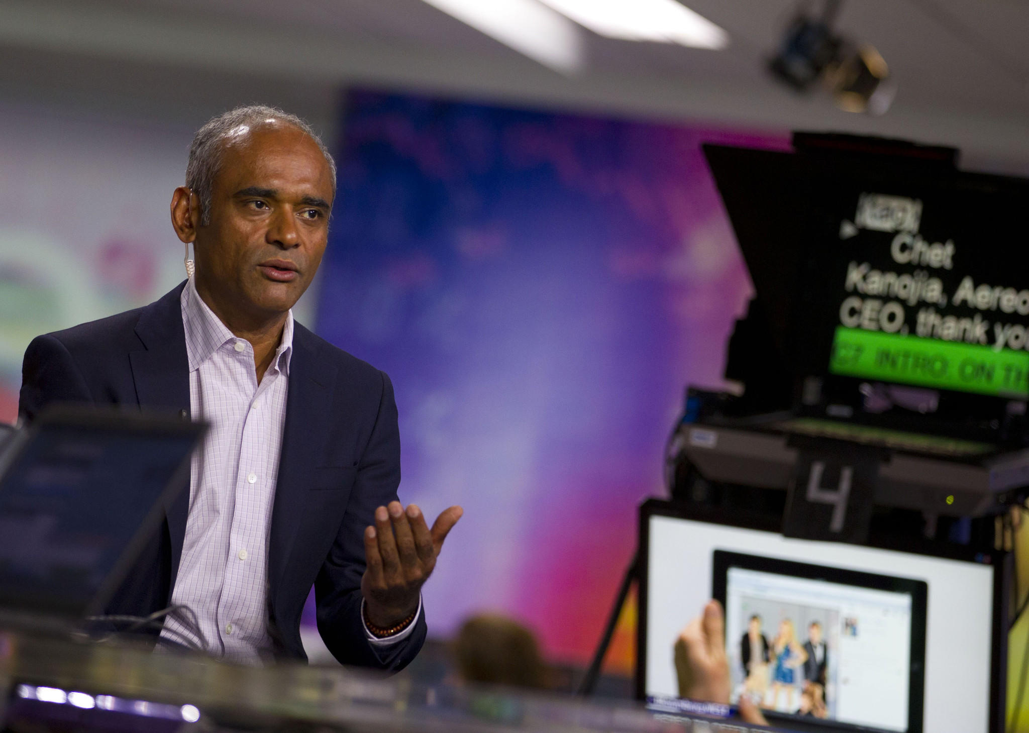 Chet Kanojia, CEO of Aereo Inc., which faces legal challenges from broadcasters.
