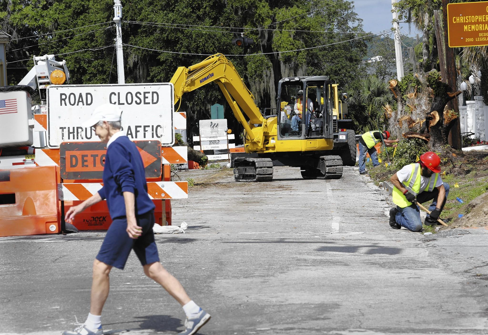 Work is underway on Friday, May 3, 2013, on 5th Ave. in Mount Dora. The work is part of a $3.8 million streetscape project.