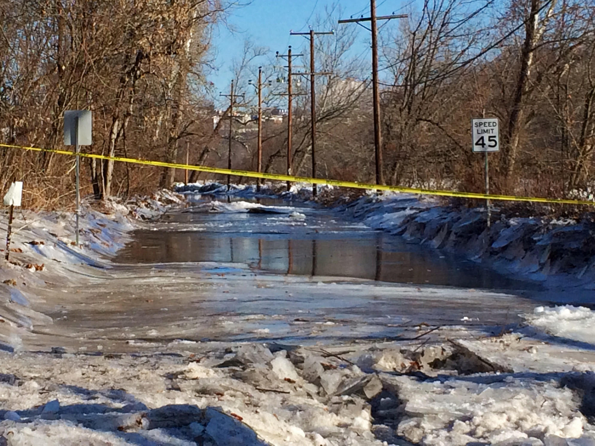An ice jam on the Lehigh River has forced police to close a portion of Lehigh Drive near the Old Glendon Bridge. Ice jams, combined with heavy rain forecast for this weekend, will create the potential for flooding.