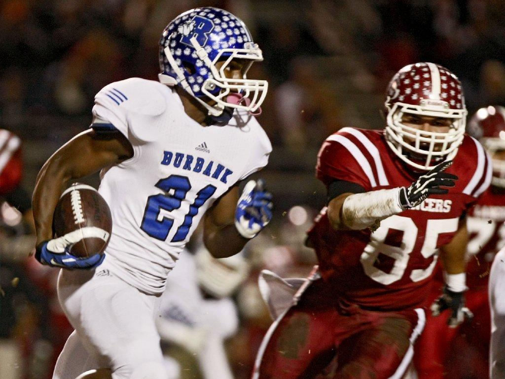 Burbank High's James Williams was named to the All-Area Football First Team. (Raul Roa/File Photo)