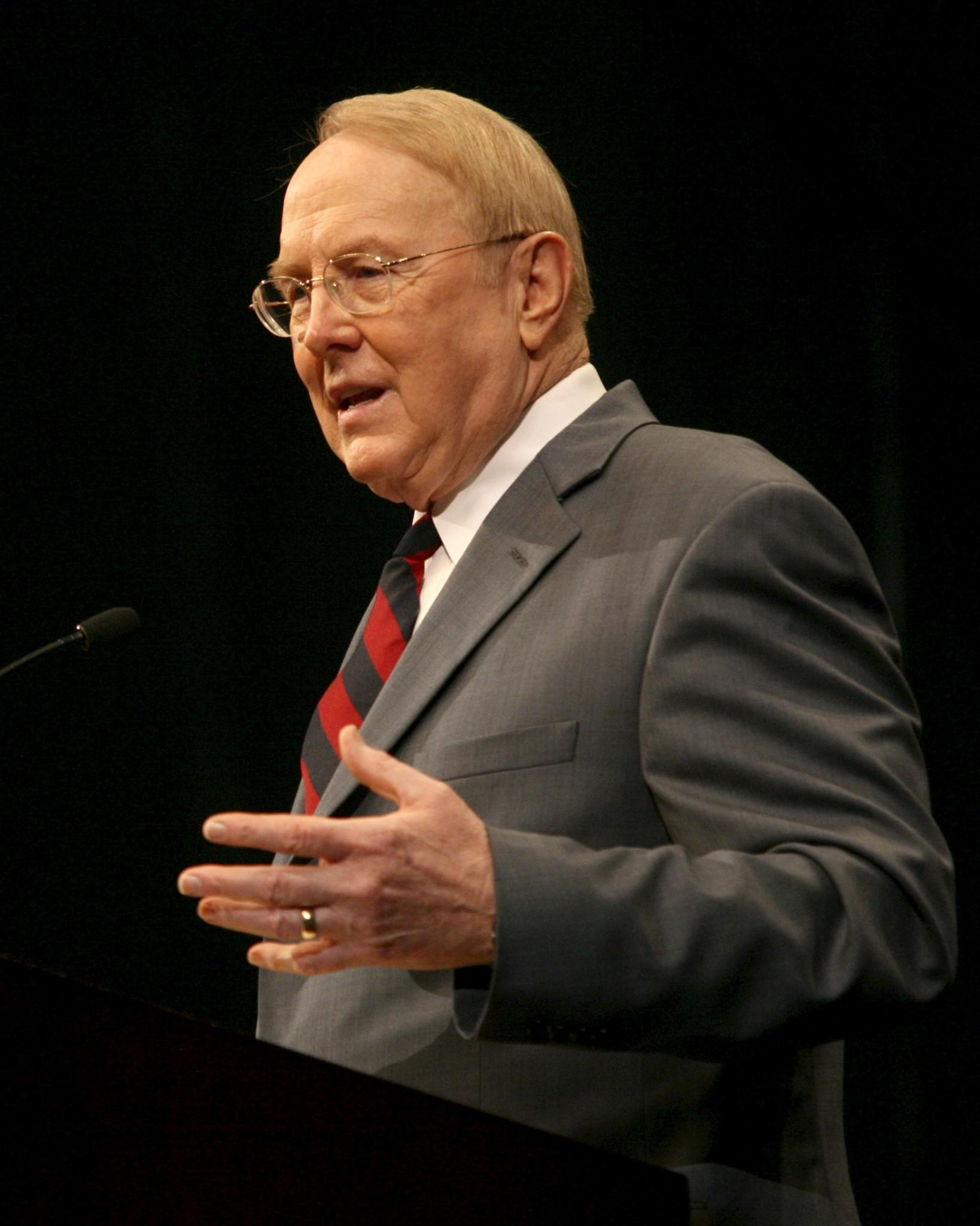 """James Dobson, seen in 2006, said on his radio show: """"God made us male and female. You just don't choose gender."""""""