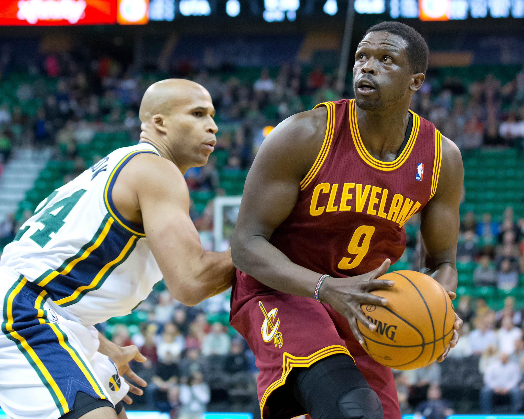 Former Bulls forward Luol Deng made his Cavaliers debut Friday.