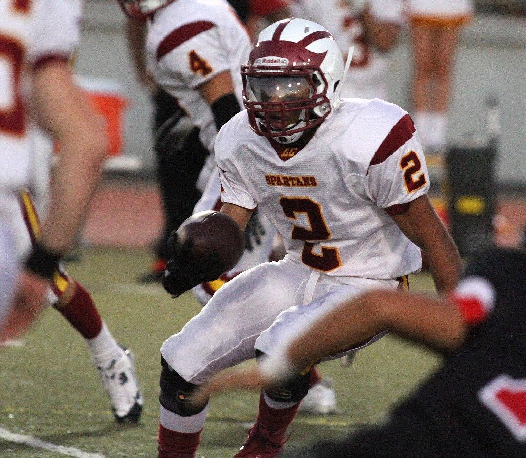 La Cañada High running back Jaden Henry was selected to the All-Area Football Second Team. (Tim Berger/File Photo)