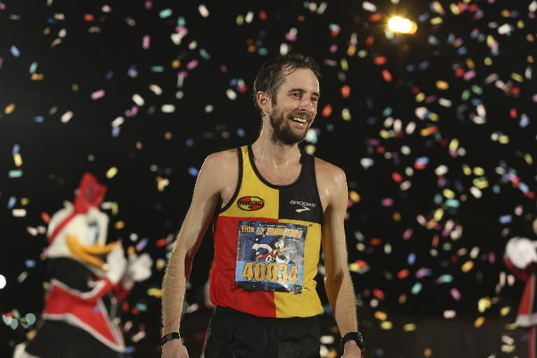 Mike Morgan won the Disney World Half Marathon in 1 hour, 9 minutes, 39 seconds.