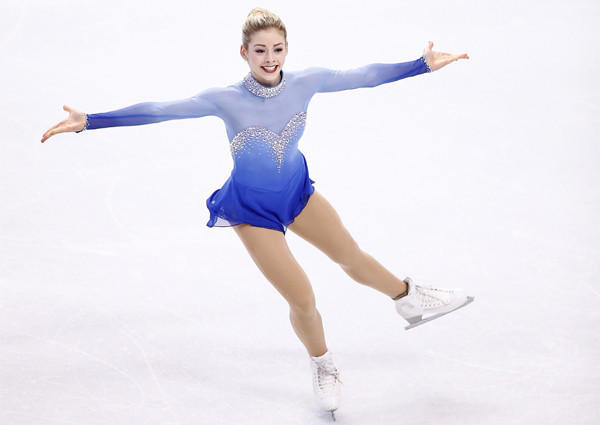 Gracie Gold took first place in the free skate program Saturday during the U.S. figure skating championships at TD Garden in Boston.