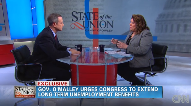 Martin O'Malley appears on CNN's 'State of the Union' with Candy Crowley.