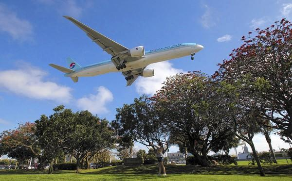 The last two years represented a dramatic drop in airline fatalities from the 10-year average of 720 per year, according to research. Above, a plane prepares to land at Los Angeles International Airport in April.