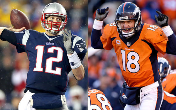 Quarterbacks Tom Brady of the Patriots and Peyton Manning of the Broncos will meet for the 15th time, including the fourth time in the postseason and the third time in the AFC championship game.