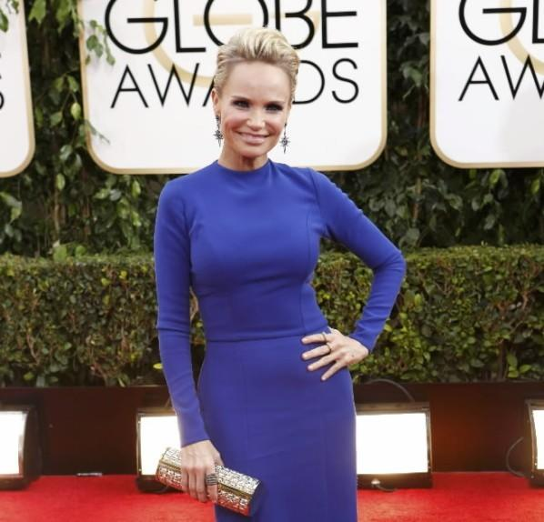 Actress Kristin Chenoweth arrives at the 71st annual Golden Globe Awards in Beverly Hills, Calif. Jan. 12, 2014.