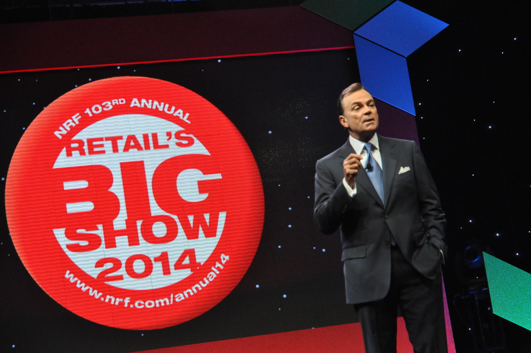 Grove mogul Rick Caruso talks about the future of malls at the National Retail Federation's convention in New York City.