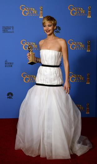 Actress Jennifer Lawrence was one of the most buzzed-about celebrities during the Golden Globes.