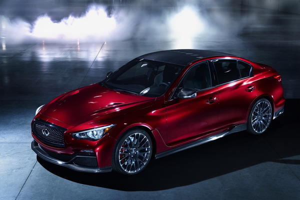 Infiniti's Q50 Eau Rouge concept hints at what a possible high-performance version of the compact Q50 may look like. If produced, Infiniti's president Johan de Nysschen said he would expect the car to have around 500 horsepower and 600 pound-feet of torque from a supercharged or turbocharged engine.