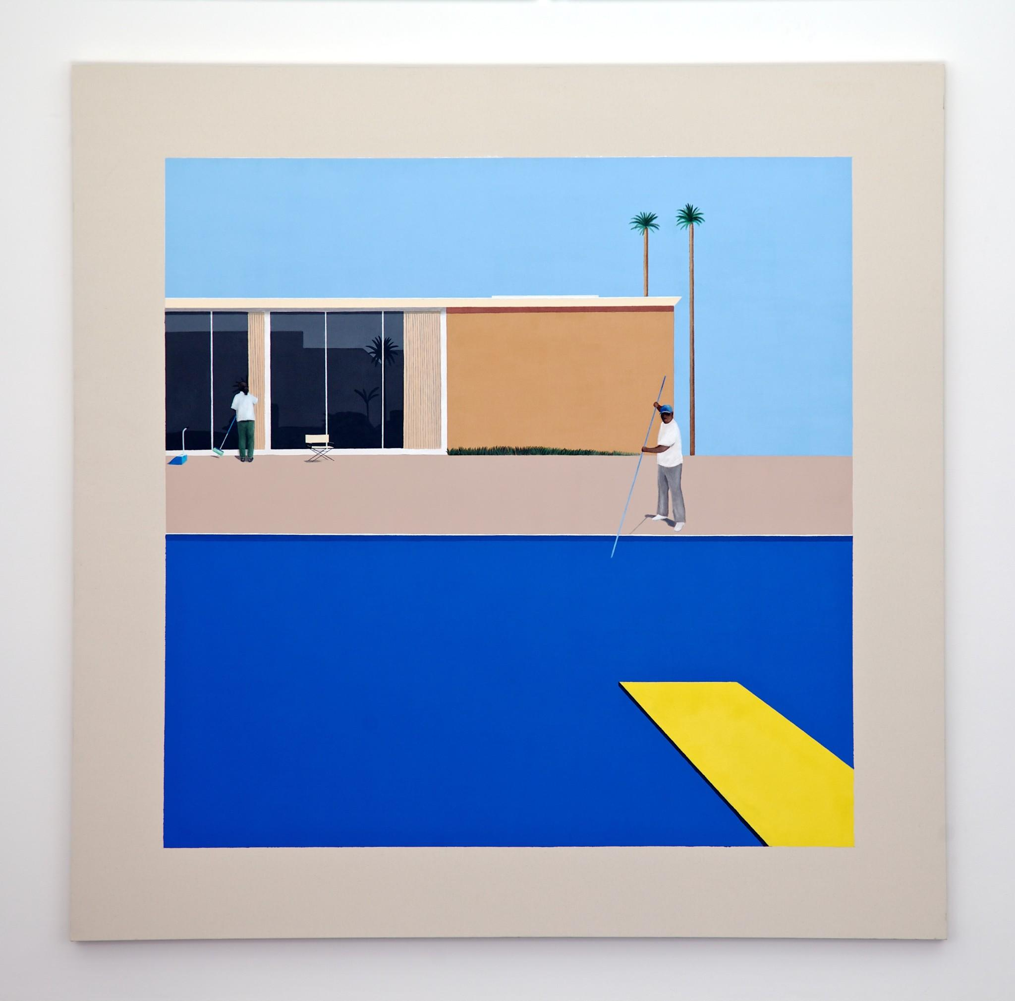 """No Splash"" painting by Ramiro Gomez at Charlie James Gallery."