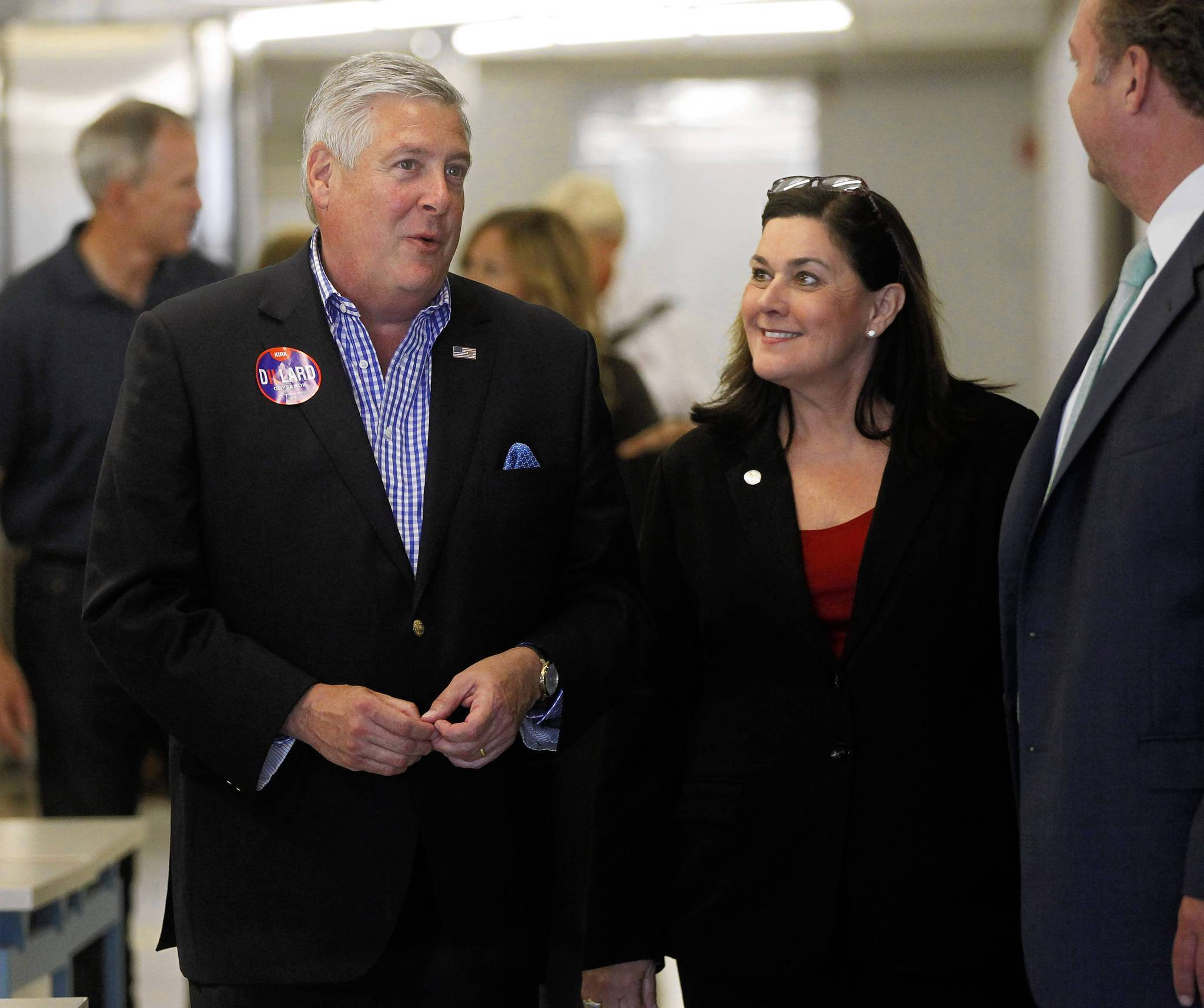 Republican candidate for governor Kirk Dillard and his running mate, Jil Tracy.