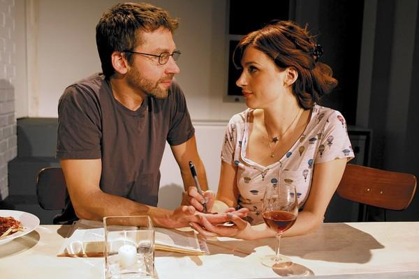 """Michael Weston and Aya Cash star in """"Trudy and Max in Love."""""""