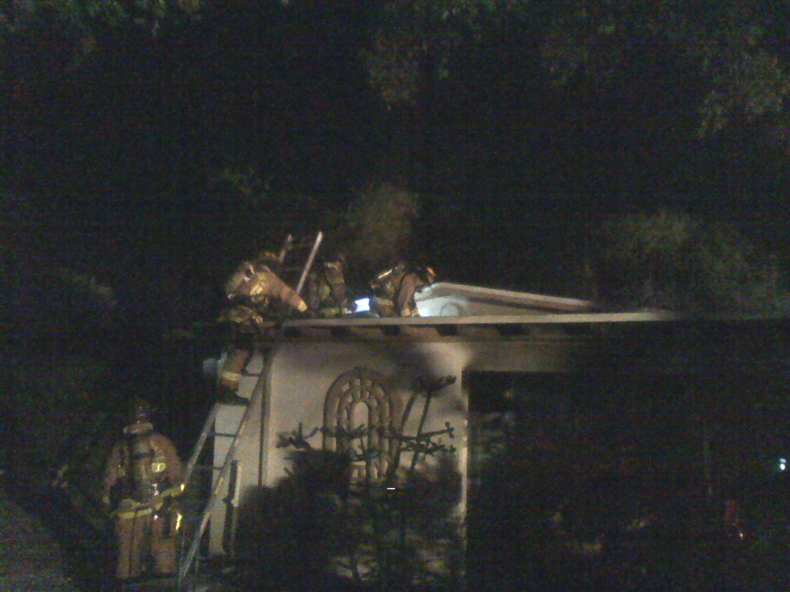 Firefighters from Fort Lauderdale Fire Rescue at the scene of a fire at 1336 SW 18th Ave. that was reported about 3:45 a.m. No injuries were reported. Officials say the squawking of a pet parrot awakened the two sleeping residents.