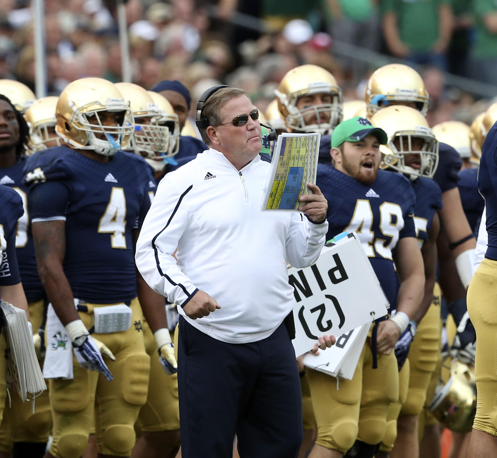 Notre Dame coach Brian Kelly plans to call plays next season.