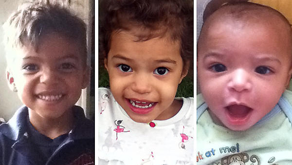 Dasani, 4, left, Alexia, 3, center, and Jayden, 7 months, Young. The children died in a house fire in Hammond, Ind., on Jan. 9, 2014.