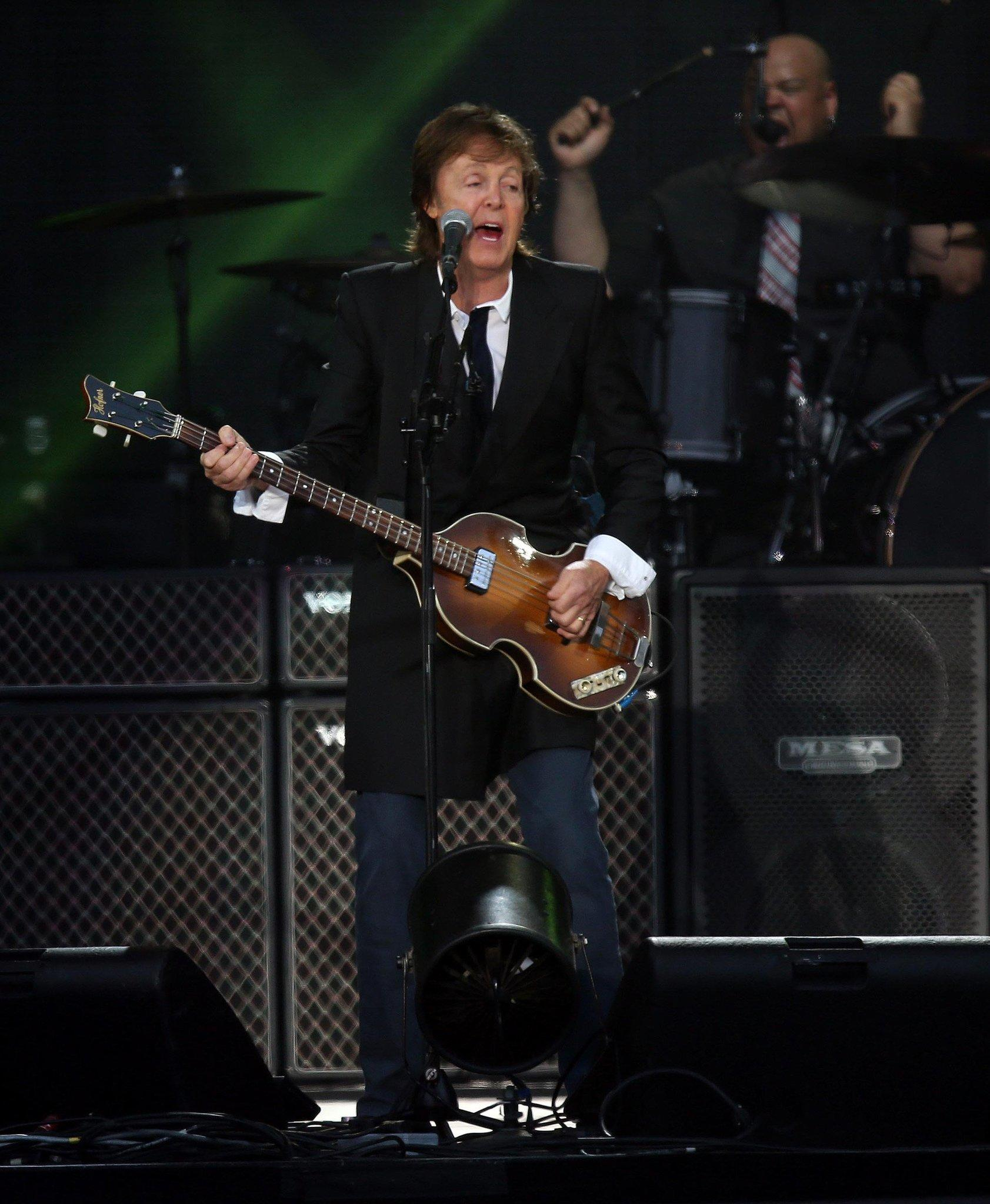 Paul McCartney headlines on the Land's End stage during the 6th annual Outside Lands Music and Arts Festival in Golden Gate Park in San Francisco, California.