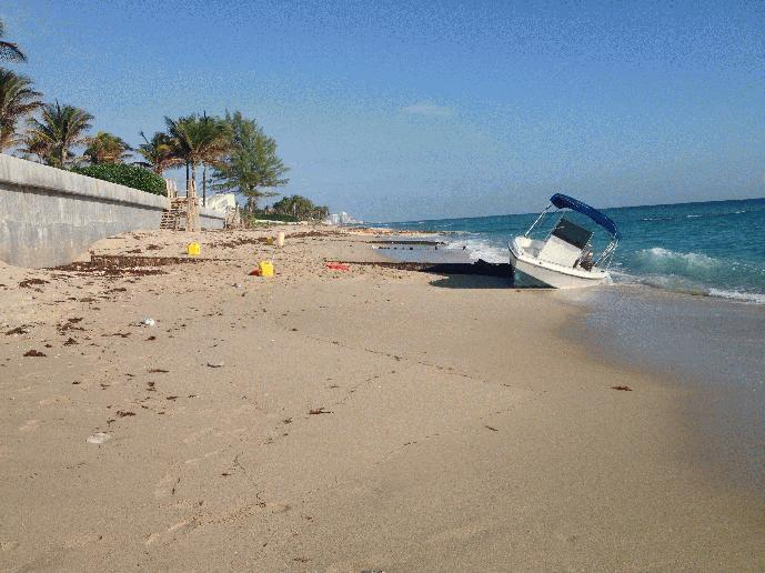 !2 people are in custody after they scrambled ashore in Palm Beach Tuesday morning