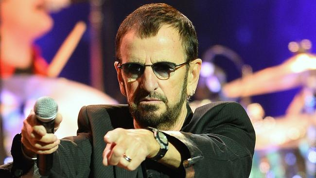 Ringo Starr's new LP includes a collaboration with fellow former Beatle Paul McCartney. (Ethan Miller / Getty Images)