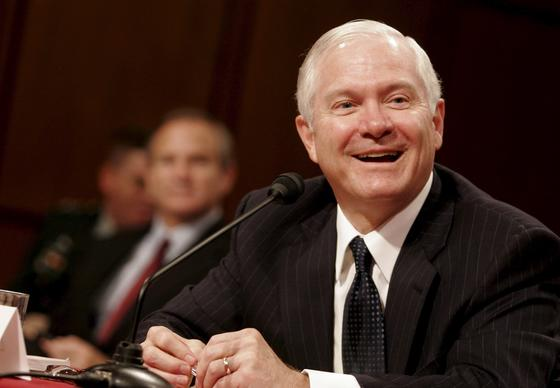 Robert Gates testifies before the Senate Armed Services Committee during his confirmation hearing to become Secretary of Defense on Dec. 5, 2006. The committee unanimously voted to send his nomination to the full Senate.