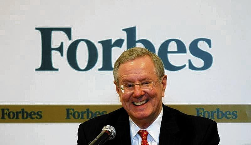 Forbes Media Chairman and Editor-in-Chief Steve Forbes smiles as he speaks during a news conference before the Forbes Global CEO Conference in Kuala Lumpur on Sept. 12, 2011.
