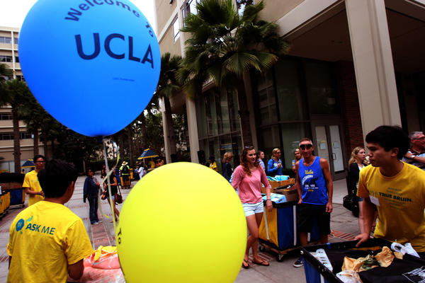 Move-in day for freshmen at UCLA this past fall. UC campuses want to avoid a potential conflict with Jewish holidays next fall.
