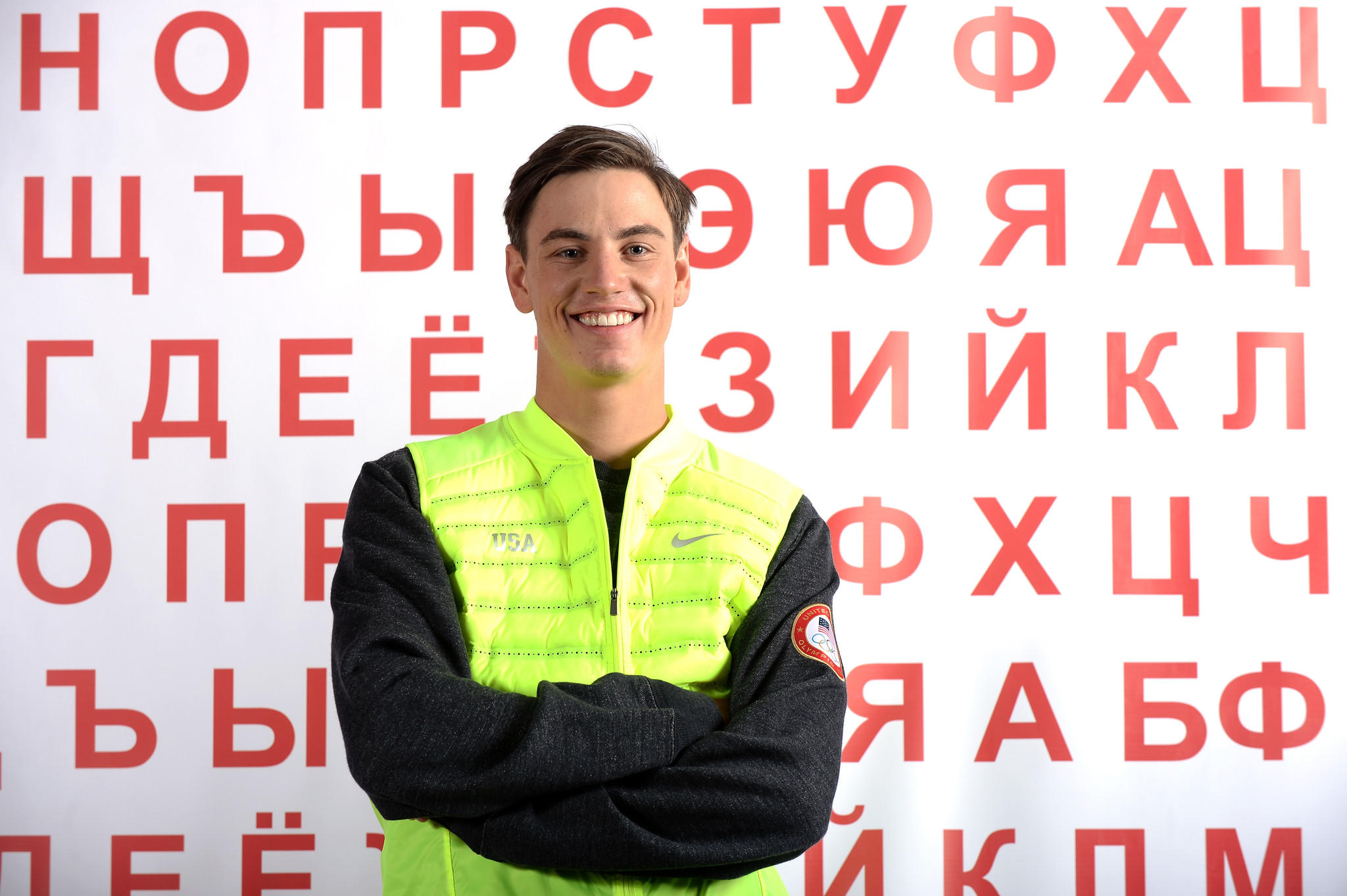 Freestyle skier Dylan Ferguson poses for a portrait during the USOC Media Summit ahead of the Sochi 2014 Winter Olympics on September 29, 2013 in Park City, Utah. (Photo by Harry How/Getty Images) ORG XMIT: 175457393
