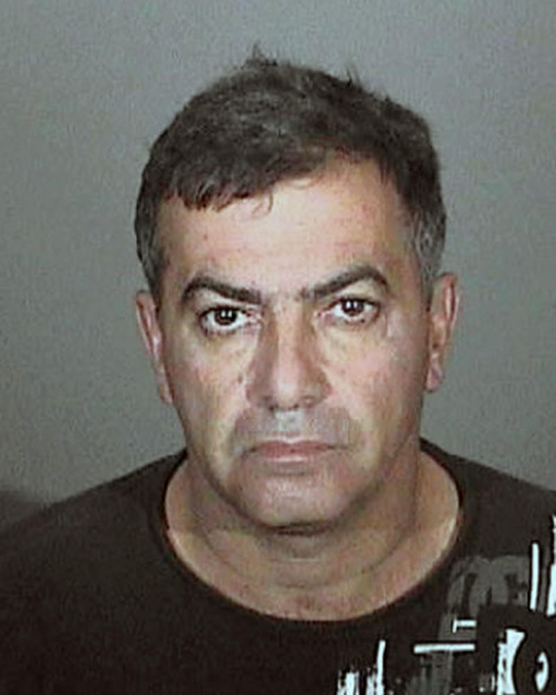 Gamlet Sarkisyan was arrested on suspicion of stalking a woman, who he allegedly followed, broke into her home and hit her car with his vehicle to get her attention, police said.