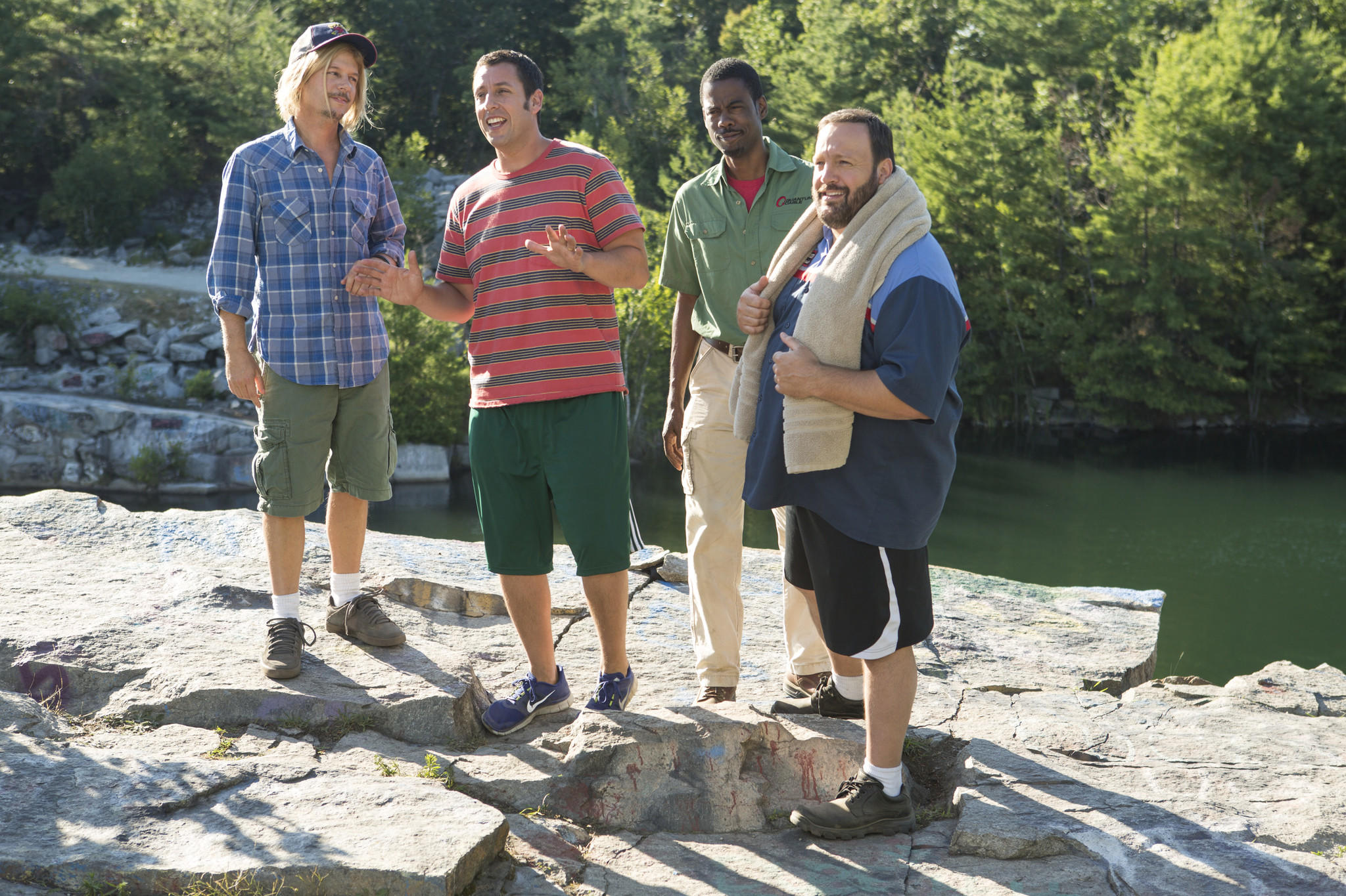 "David Spade, Adam Sandler, Chris Rock and Kevin James in ""Grown Ups 2."""