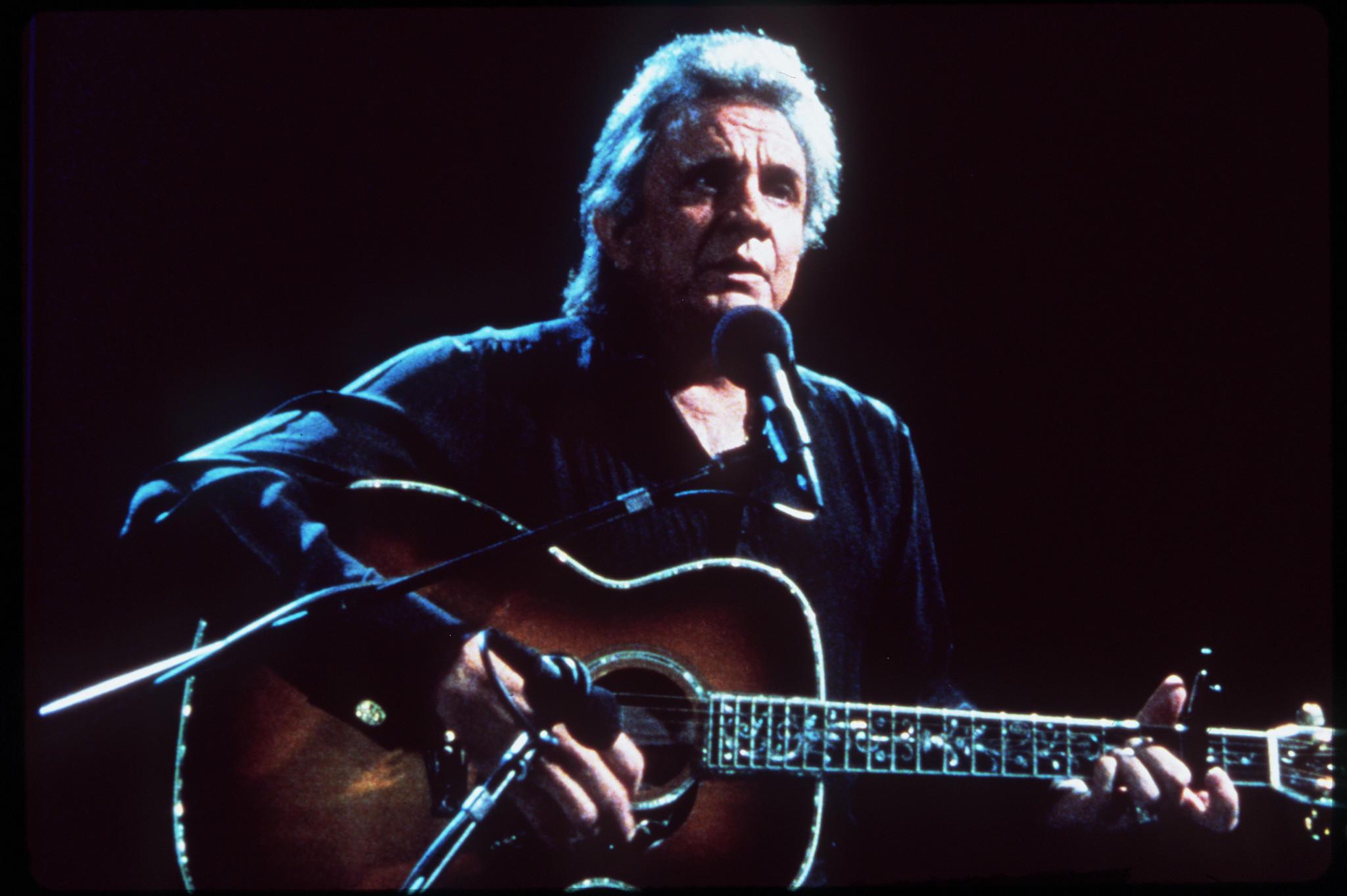 Singer Johnny Cash.