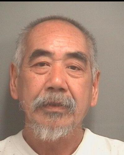 Shiu K. Chin, 61, was arrested on Jan. 14, 2014. He faces charges of indecent exposure, loitering and prowling, and resisting arrest without violence, according to the Palm Beach County Sheriff's Office booking blotter.
