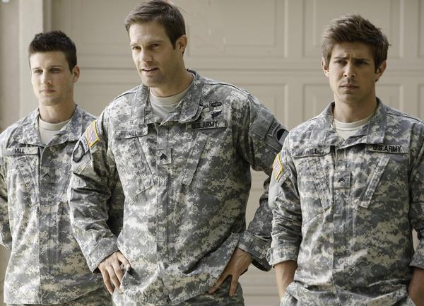 "Parker Young, Geoff Stults and Chris Lowell of ""Enlisted"""