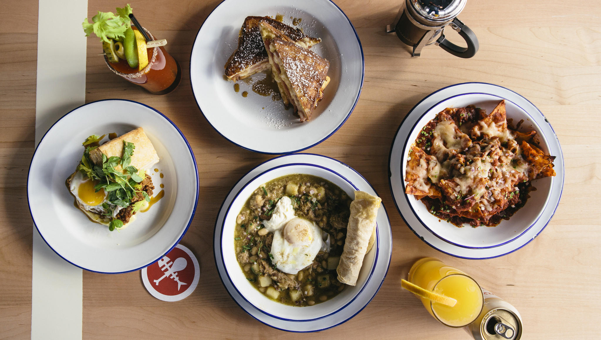 Brunch dishes at Parson's Chicken & Fish